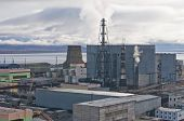 foto of chukotka  - Power plant in Anadyr town - JPG