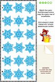 Fancy snowflakes visual puzzle