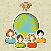 Internet Diversity People Global Connection