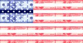 Hundred Dollar Bill American Flag
