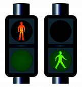 Walking Man Traffic Lights