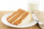 Carrot Cake And Milk