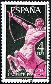 Postage stamp Spain 1956 Centaur, Mythical Creature