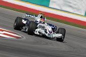 Bmw Sauber F1 Team Robert Kubica F1.07 Polish Poland Sepang Malaysia 2007