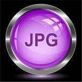 Jpg. Internet button. Raster illustration.