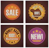 Vector shopping badges set