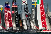 SAN FRANCISCO, CA - Oktober 4: America'??s Flotte Cup World Series Regatten in San Francisco