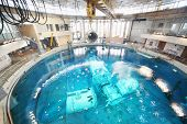 STAR TOWN - FEBRUARY 4: Underwater simulators in round pool in Cosmonaut Training Center on February