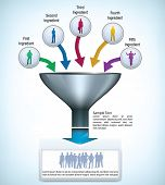 stock photo of combinations  - Funnel presentation template with space for different elements - JPG