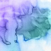image of indigo  - Abstract watercolor hand painted background - JPG