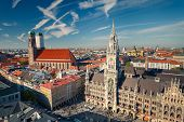 stock photo of city hall  - Aerial view of Munchen - JPG