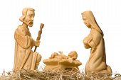 Nativity Scene Isolated On White