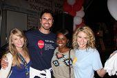 LOS ANGELES - OCT 6:  Don Diamont, Kim Matula, Kristolyn Lloyd, Linsey Godfrey attend the Light The