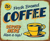 stock photo of brew  - Vintage metal sign  - JPG