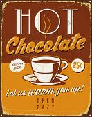 Vintage metal sign - Hot Chocolate - JPG Version