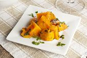 picture of batata  - Homemade Baked Sweet Potato against a background - JPG