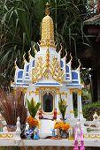 Mini Buddhist temple on the island of Koh Samui