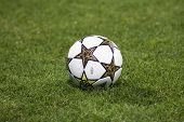 CLUJ-NAPOCA, ROMANIA - OCTOBER 2: The ball at UEFA Champions League match between CFR 1907 Cluj and