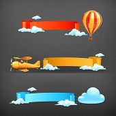 Air banners vector