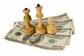 Chess Figures On Us Dollars