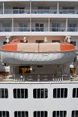 picture of safe haven  - A cruise ship lifeboat concept of a safe haven or a backup plan - JPG