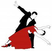 foto of jive  - Abstract vector illustration of latino dancers couple - JPG