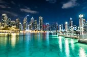 Dubai Downtown. Osten, Vereinigte Arabische Emirate-Architektur