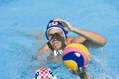 Jul 01 2009; Rome Italy; USA team player Timothy Hutten defends a ball from Andro Buslje (CRO)  at t