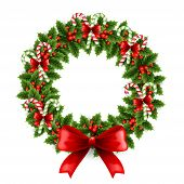Vector illustration Christmas wreath