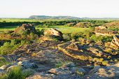 Ubirr Art Site And Lookout. Kakadu National Park. Northern Territory Australia poster