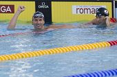 Jul 31 2009; Rome Italy; Aaron Piersol (USA competing in the mens 200m backstroke final in a world r