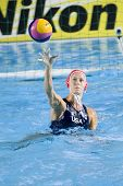 Jul 29 2009; Rome Italy; Elizabeth Armstrong competing in the womens waterpolo match between USA and Greece at the 13th Fina World Aquatics Championships held in the The Foro Italico Swimming Complex.