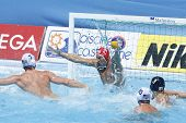 Jul 24 2009; Rome Italy; USA team player Merrill Moses concedes a goal while competing in the prelim