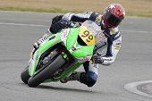 26 Sept 2009; Silverstone England: Rider number 99 David Haire GBR riding for Jx Fuelcards Kawasaki