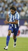 MALAGA, SPAIN. 19/09/2010. Weligton the Malaga defender in action during the La Liga match between C