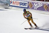 SOELDEN AUSTRIA OCT 26, Jean-Pierre Roy CAN competing in the mens giant slalom race at the Rettenbach Glacier Soelden Austria, the opening race of the 2008/09 Audi FIS Alpine Ski World Cup