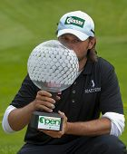 SAINT-OMER, FRANCE. 20-06-2010, Martin Wiegele (AUT)  after winning  the European Tour, 14th Open de Saint-Omer, part of the Race to Dubai tournament and played at the AA Saint-Omer Golf Club .