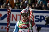 SOELDEN AUSTRIA OCT 26, Daniel Albrecht SUI the winner of the mens giant slalom race at the Rettenba