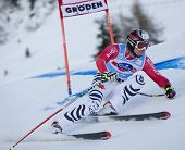 VAL GARDENA, ITALY 18 December 2009. Andreas Strodl (GER)  competing in the Audi FIS Alpine Skiing W