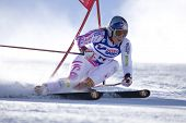 SOELDEN AUSTRIA OCT 25, Lindsey Vonn USA competing in the womens giant slalom race at the Rettenbach