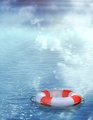 Lifebuoy, flutuando sobre as ondas