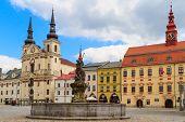 Jihlava (iglau) Main (masaryk) Square With Saint Ignatius Church, Moravia, Czech Republic
