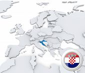 Croatia On Map Of Europe