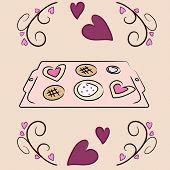 Valentine's Day Cookie Sheet Vector