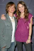 HOLLYWOOD - AUGUST 02: Jason Earles and Miley Cyrus at the