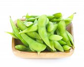 stock photo of bean-pod  - edamame - JPG