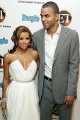 WEST HOLLYWOOD - AUGUST 27: Eva Longoria and Tony Parker at the 10th Annual Entertainment Tonight Emmy Party Sponsored by People in Mondrian August 27, 2006 in West Hollywood, CA.