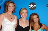 PASADENA, CA - JULY 19: Brenda Strong with Felicity Huffman and Eva Longoria at the Disney ABC Telev