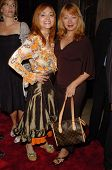 HOLLYWOOD - AUGUST 15: Judy Tenuta and Andrea Evans at the Los Angeles Premiere of Dirty Rotten Scou