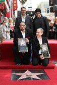 Trey Parker, David Copperfield, Penn Jillette, Teller at Penn & Teller's induction into the Hollywoo